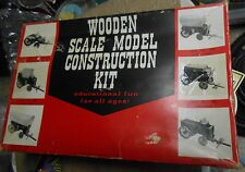Wooden Scale Model Construction Kit Covered Chuck Wagon No 552 Made in Japan