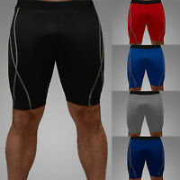 Mens Boys Compression Armour Base Layer Shorts Pants Sport Gear Skinny Tights