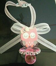OWL THEMED BABY SHOWER PACIFIER NECKLACES