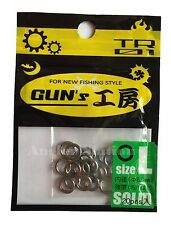 D-Stream TR01 Gun's Round Solid Ring for Jigging size L / 150lb / Ø5.0mm (20pcs)