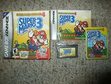 Super Mario Advance 4 Bros. 3 (Nintendo Game Boy Advance )Complete GBA W/ Card