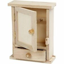 Simple wood key cabinet WC370 keys storage box dinky small craft decorate