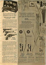 1967 ADVERTISEMENT Daisy Crosman BB Gun Pistol CO2 Marksman Shooting Gallery