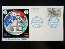FRANCE PREMIER JOUR FDC YVERT 1228      SIEGE DE L'OTAN    50F    PARIS     1959