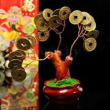 Chinese Money Tree Coin Buddhist Blessed Feng Shui Fortune Lucky Home Decor - XS