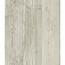 Grey Washed Faux Wood with Knots on Sure Strip Wallpaper ZB3347