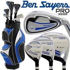 """60% OFF"" BEN SAYERS MENS COMPLETE GOLF SET IRONS WOODS PUTTER & CARRY CART BAG"