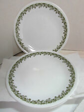 "2 CORELLE CORNING WARE GREEN CRAZY DAISY SPRING BLOSSOM 8 1/2"" LUNCHEON PLATES"