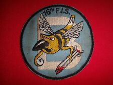 "Korea War (1950-53) US ""B"" (Bee) 16th Fighter Interceptor Squadron Patch"