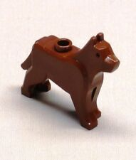 x1 NEW Lego Dog Wolf Animal Minifig REDDISH BROWN
