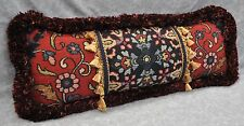 Pillow made w/ Ralph Lauren Poet's Society Tapestry Fabric 23x8 trim fringe NEW