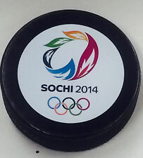 NEW 2014 SOCHI OLYMPIC HOCKEY PUCK USA RUSSIA CANADA SWEDEN FINLAND US00512