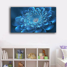 30×50×3cm Abstract Flower Blue Canvas Prints Framed Wall Art Home Decor Painting
