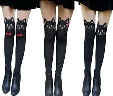 Japanese Sexy CAT Mock Thigh-Highs with TAIL Pantyhose Set of 3 Pairs CAT-LOVERS