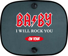 Baby I will rock you on tour niños protección solar coche