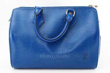 Authentic LOUIS VUITTON Speedy 28 EPI Blue Hand Bag Vintage TA4066-%