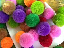 """Craft Cashmere DIY 1-1.2"""" Pom Pom Ball Colored Round DROP Beads 25pcs 11colors"""