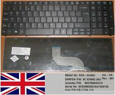 CLAVIER QWERTY UK ACER ASPIRE AS5741G M8571  NSK-AU00U 9Z.N3M82.00U KB.I170A.110