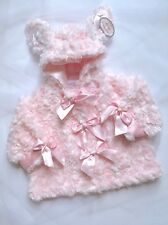NWT Bearington Baby Collection Hooded Pink Cottontail Bunny Coat 6-12 Months