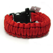 Hot Paracord Parachute Rope Bracelet Wristband Survival Hiking Red color