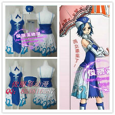 Fairy Tail Juvia Lockser Cosplay Costume Outfit+Hat+Gloves