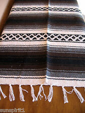 Falsa Serape ONW-Brown New West Southwest Southwestern Mexican Blanket Afghan
