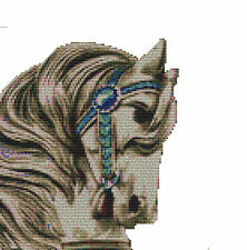 CROSS STITCH KIT - CAROUSEL HORSE  22 X 24 CM
