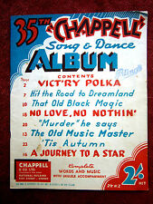 CHAPPELL'S  SONG  &  DANCE  ALBUM  No. 35  WORDS & MUSIC  VINTAGE   SHEET  MUSIC
