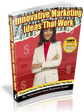 INNOVATIVE MARKETING IDEAS THAT WORK PDF EBOOK FREE SHIPPING RESALE RIGHTS