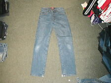 "Jeff & Co 14oz Classic Fit Jeans Size 10 Leg 32"" Faded Dark Blue Ladies Jeans"