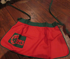 Vintage RED & GREEN Christmas Cheers Apron with Pocket