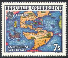 Austria 1992 Europa/Columbus/Ships/Explorers/Nautical/Maps 1v (n32025)