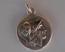 Helmetted Goddess Athena & Nike Small Silver Pendant -Alexander the Great Stater