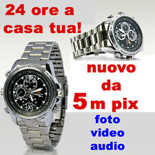 Orologio micro camera microspia microcamera metallo spia spy video foto nascosta