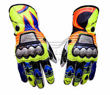 Rossi Motorcycle | Motorbike Racing Leather Gloves 2015 For Men's & Women