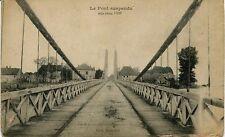 France Visa Paris - Le Pont suspendu old postcard