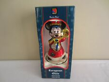 Santa's Best Mickey Mouse Marching Band European Blown Glass Christmas Ornament