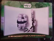 2015 Topps Star Wars The Force Awakens Weapon #3 D-93 Incinerator Flamethrower