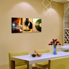 HD Canvas Prints Decor Wall Art Painting Picture Unframed Music CD Guitar MP3