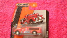 Matchbox (UK Card) - 2014 - #77 Seagrave Fire Engine - Red