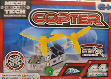 44 PCS METAL CONSTRUCTION BLOCKS HELICOPTER TOY BUILD YOUR OWN HELICOPTER