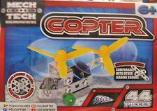 44 PZ in Metallo Costruzione Blocchi Giocattolo Elicottero Costruisci il tuo elicottero