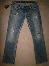 "SILVER Jeans ""TUESDAY BABY BOOT"" DISTRESSED Jeans! 24X33! NWT! SEXY!!"