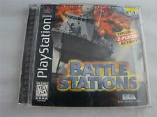 Playstation 1 PS1 Battle Stations Game  complete in case w/ manual CIB