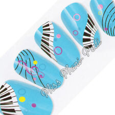 Nail Art Water Transfers Stickers Decals Musical Piano Keyboard Music Notes K122