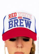 Red White and Brew - Red White and Blue Trucker Hat