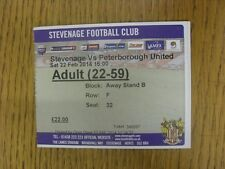 22/02/2014 Ticket: Stevenage v Peterborough United  . Thanks for viewing our ite
