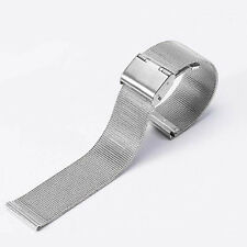 12mm-24mm Stainless Steel Mesh Bracelet Watch Band Replacement Strap 4Colors