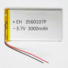 "3.7V 3000mAh 3560107 Li Po Polymer cell Battery For Tablet 9"" PDA DVD power bank"