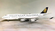 BOEING 747-412 SINGAPORE AIRLINES 'STAR ALLIANCE' 9V-SPP Ref: JF7474031 in 1/200